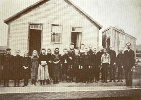 Cook School At Pottertown In The 1890's